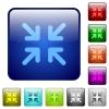 Minimize color square buttons - Minimize color glass rounded square button set