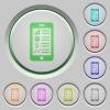 Mobile application push buttons - Set of color Mobile application sunk push buttons.