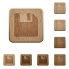 Save wooden buttons - Set of carved wooden save buttons in 8 variations.