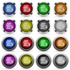 Euro coins button set - Set of euro coins glossy web buttons. Arranged layer structure.