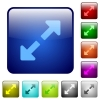 Color resize full glass buttons - Set of color resize full glass web buttons.