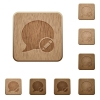 Moderate blog comment wooden buttons - Set of carved wooden Moderate blog comment buttons in 8 variations.