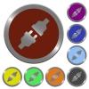 Color power connectors buttons - Set of color glossy coin-like power connectors buttons.