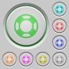 Lifesaver push buttons - Set of color lifesaver sunk push buttons.