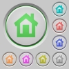 Home push buttons - Set of color home sunk push buttons.
