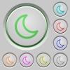 Sleep push buttons - Set of color sleep sunk push buttons.