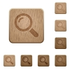 Magnifier wooden buttons - Set of carved wooden magnifier buttons in 8 variations.