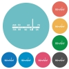Flat radio tuner icons - Flat radio tuner icon set on round color background.