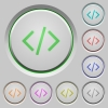 Programming code push buttons - Set of color Programming code sunk push buttons.