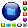Color folder owner glass buttons - Set of color folder owner glass web buttons.