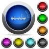 Radio tuner button set - Set of round glossy Radio tuner buttons. Arranged layer structure.