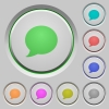 Blog comment push buttons - Set of color blog comment sunk push buttons.
