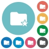 Flat rank folder icons - Flat rank folder icon set on round color background.