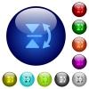 Set of color vertical flip glass web buttons. - Color vertical flip glass buttons