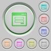 Login panel push buttons - Set of color login panel sunk push buttons.