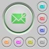 Mail sent push buttons - Set of color mail sent sunk push buttons.