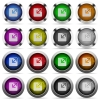 Resize window button set - Set of Resize window glossy web buttons. Arranged layer structure.