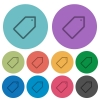 Color tag flat icons - Color tag flat icon set on round background.