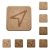 Direction arrow wooden buttons - Set of carved wooden Direction arrow buttons in 8 variations.