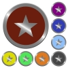 Color favorite buttons - Set of color glossy coin-like favorite buttons.