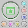 Favorite application push buttons - Set of color Favorite application sunk push buttons.