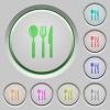 Restaurant push buttons - Set of color restaurant sunk push buttons.