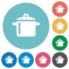 Flat cooking icons - Flat cooking icon set on round color background.