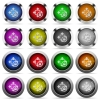 Size lock button set - Set of Size lock glossy web buttons. Arranged layer structure.