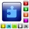 Color puzzle glass buttons - Set of color puzzle glass web buttons.