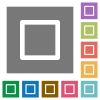 Media stop square flat icons - Media stop flat icon set on color square background.