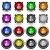 Save user account button set - Set of Save user account glossy web buttons. Arranged layer structure.