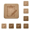 Notepad wooden buttons - Set of carved wooden notepad buttons in 8 variations.