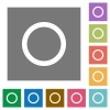 Media record square flat icons - Media record flat icon set on color square background.