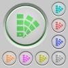 Color swatch push buttons - Set of color Color swatch sunk push buttons.