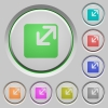 Resize window push buttons - Set of color Resize window sunk push buttons.