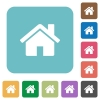 Flat home icons - Flat home icons on rounded square color backgrounds.