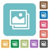 Flat pictures icons - Flat pictures icons on rounded square color backgrounds.