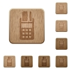 POS terminal wooden buttons - Set of carved wooden POS terminal buttons in 8 variations.