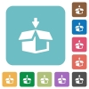 Flat pack icons - Flat pack icons on rounded square color backgrounds.