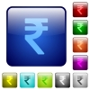 Color indian rupee sign buttons - Set of color indian rupee signglass web buttons.