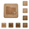 Search folder wooden buttons - Set of carved wooden search folder buttons in 8 variations.