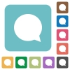 Flat chat icons - Flat chat icons on rounded square color backgrounds.