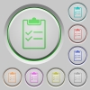 Checklist push buttons - Set of color checklist sunk push buttons.
