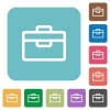 Flat toolbox icons - Flat toolbox icons on rounded square color backgrounds.