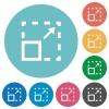 Flat maximize element icons - Flat maximize element icon set on round color background.
