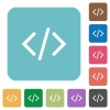 Flat programming code icons - Flat programming code icons on rounded square color backgrounds.