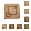 Maximize window wooden buttons - Set of carved wooden maximize window buttons in 8 variations.