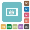 Flat mobile shopping icons - Flat mobile shopping icons on rounded square color backgrounds.
