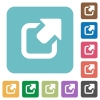 Flat export icons - Flat export icons on rounded square color backgrounds.
