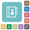 Flat contacts icons - Flat contacts icons on rounded square color backgrounds.